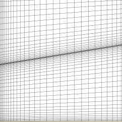 Closer view of the axisymmetric grid