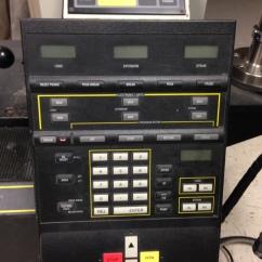 Tensile testing control board.