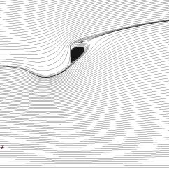 Wind lens streamlines using kepsilon model.
