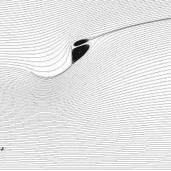 Wind lens streamlines using SA model.